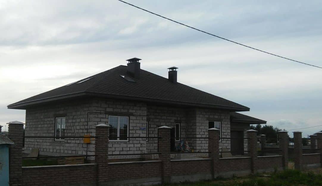 фото дома с гаражом